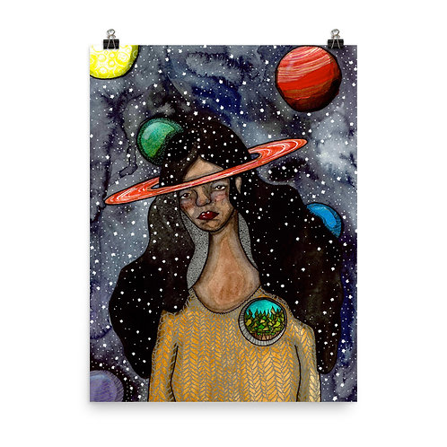 Her Head Was in Space but her Heart was in the Woods Poster