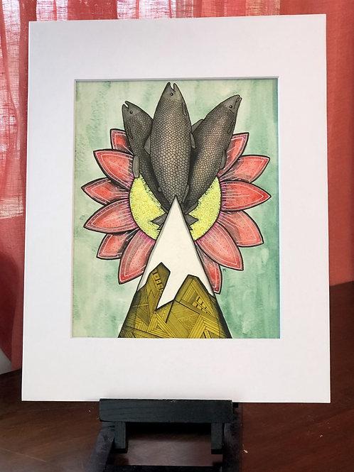 Salmon Bloom Original Art