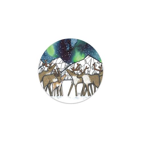 Caribou Night Sticker
