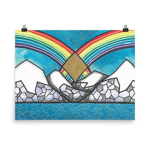 Rainbow Mountains 6 Poster