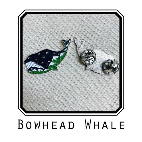 Bowhead Enamel Pin