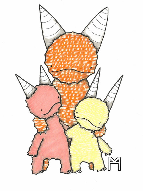 Monster with 2 Kids