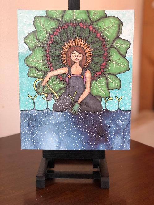 "Celestial Gardening Wild Scoops 8x10"" Canvas Print"