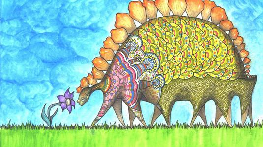 Where A Dinosaur and Flower Met