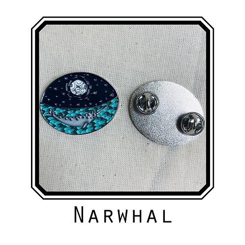 Narwhal Enamel Pin