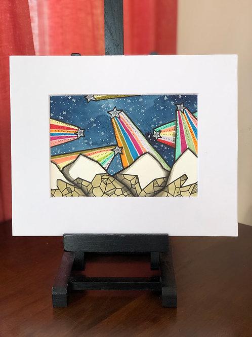 Rainbow Mountains 25 Original Art
