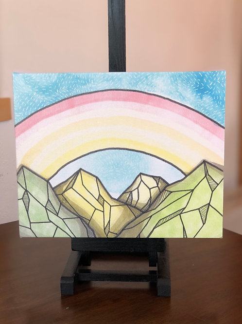 "Rainbow Mountains Wild Scoops 8x10"" Canvas Print"