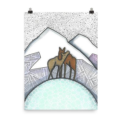 Moose Love Poster