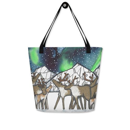 Tote Bag Caribou Night