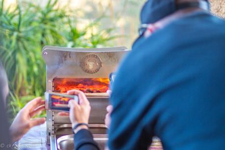 Der Steakgriller von der Firma FALM in Aktion