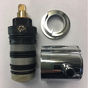 Aqualisa Midas 200/300 HP Thermostatic cartridge with knob ( chrome ) – 518113