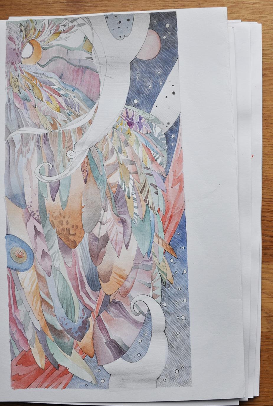 cкетчи карандаш акварель 6
