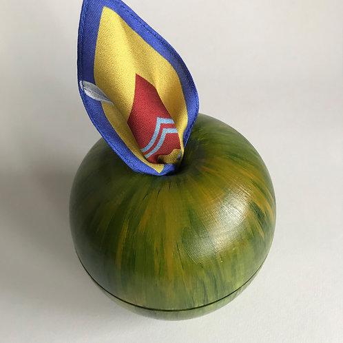Яблоко зеленое большое+ПЛАТОК САЛАТ 90х90