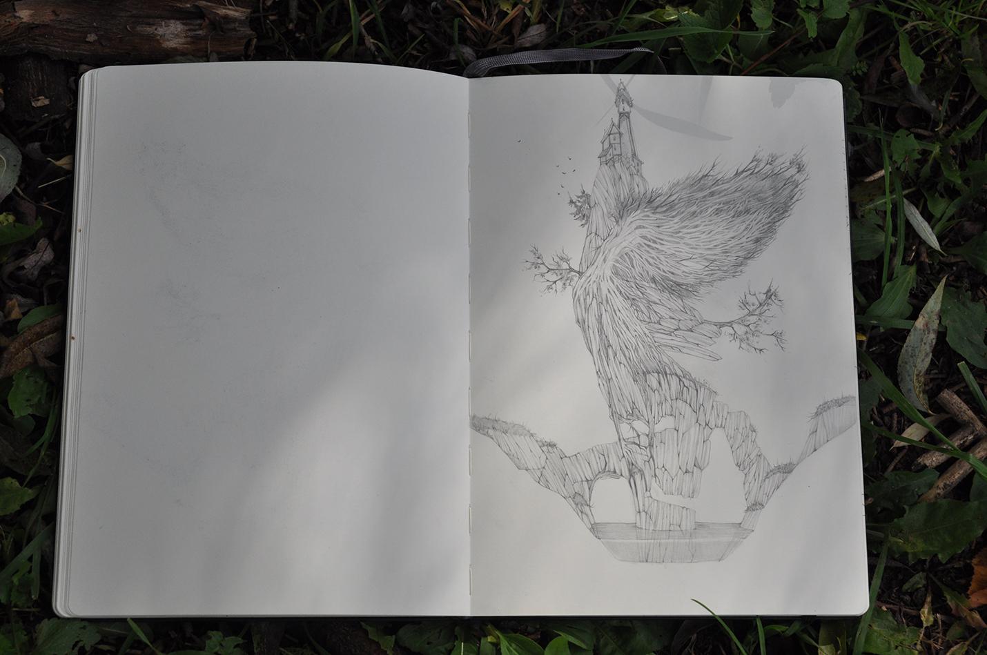 карандашный скетч 12