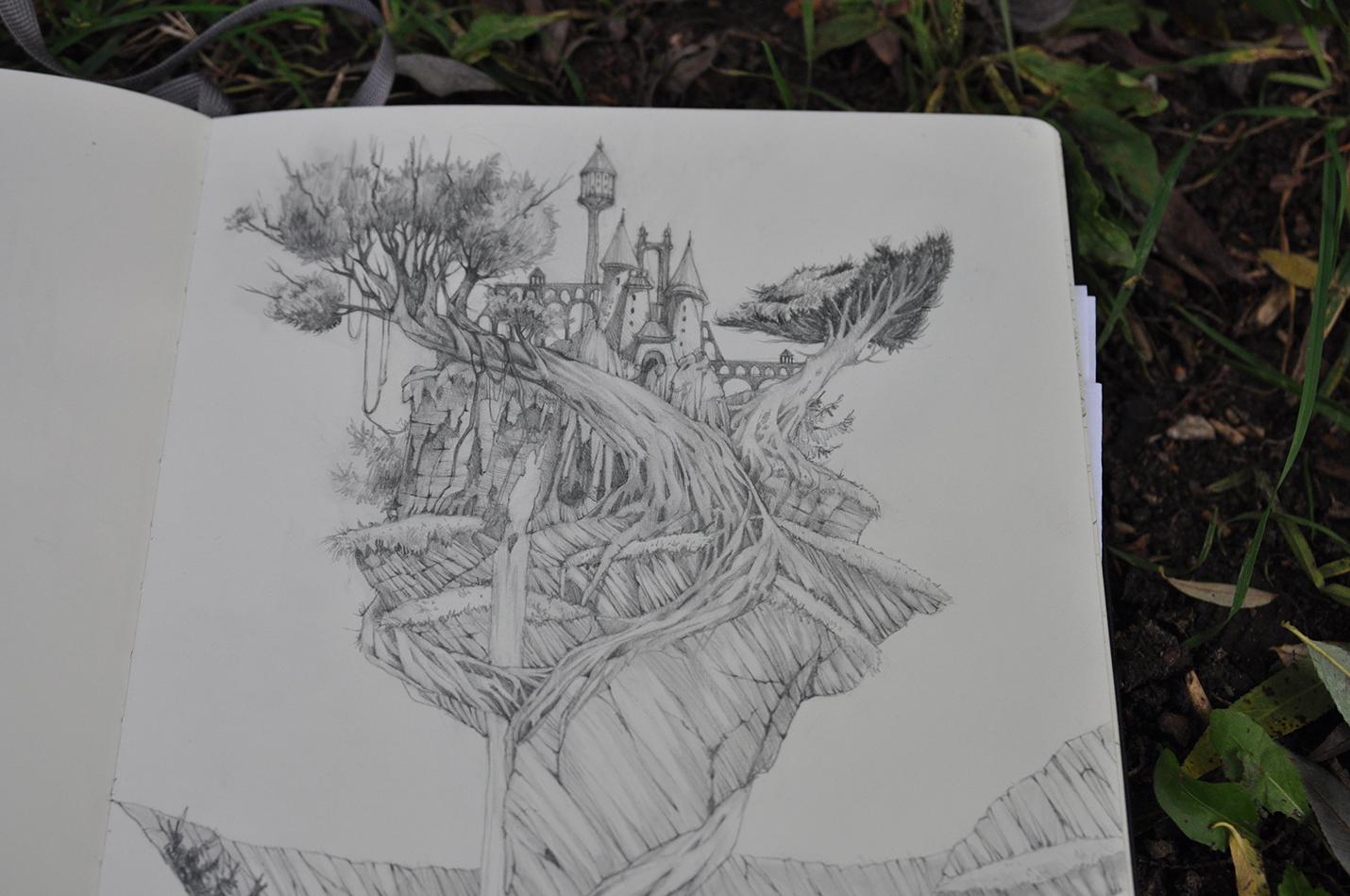карандашный скетч 11