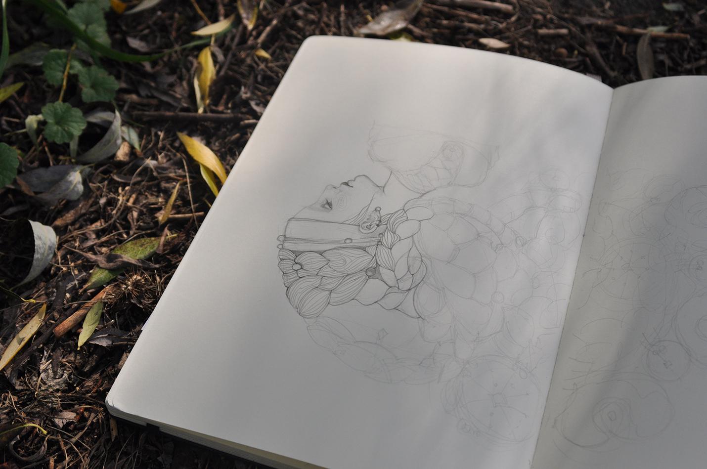 карандашный скетч 5