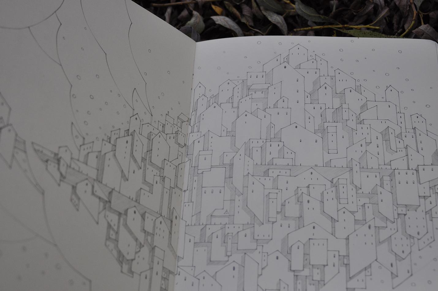 карандашный скетч 13