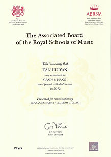 ABRSM Grade 8 Piano - Distinction