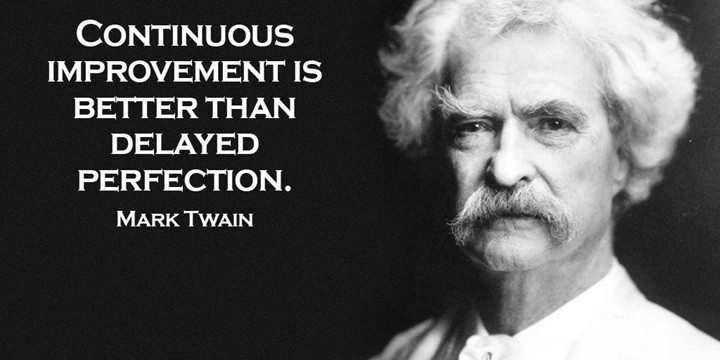 YOU.Better! Studio Mark Twain on Continuous Improvement