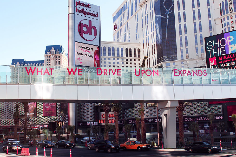 urban intervention - what we drive upon expands