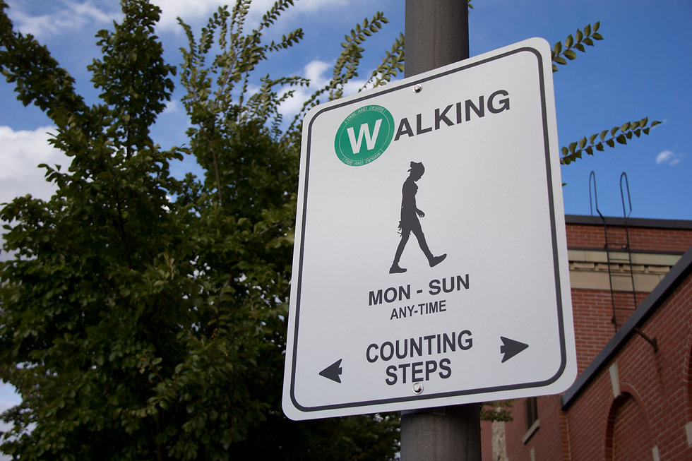 walking sign timeanddesire mississauga