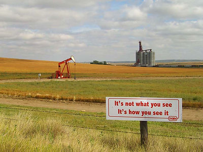 Flat Earth Series 02 - Intervention - Trans-Canada Highway, Saskatchewan (2009)
