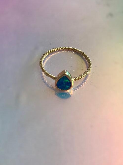Opal Teardrop Ring
