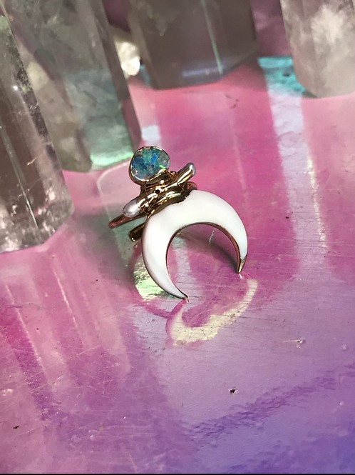 Opal Moon Light Ring