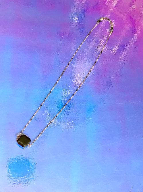 Cubic Square Pyrite Necklace