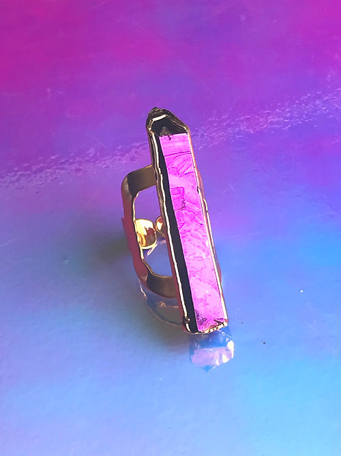 Prince Purple Rain Gold Ring
