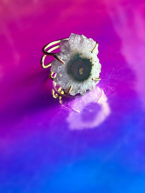 Flower Lavender Amethyst Gold Ring