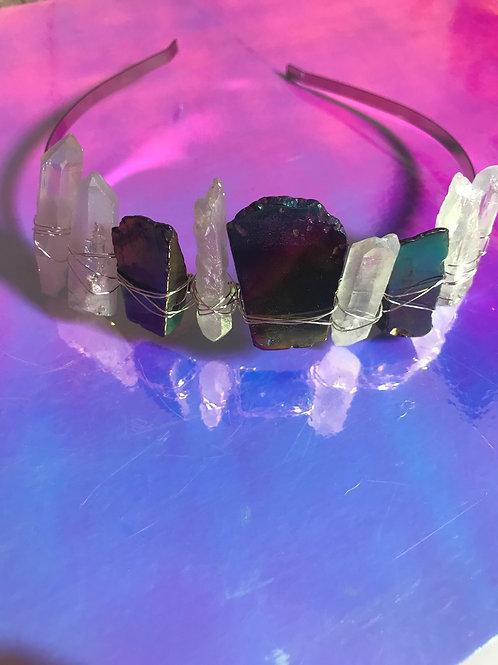 Angel Quartz / Rainbow Quartz Crown