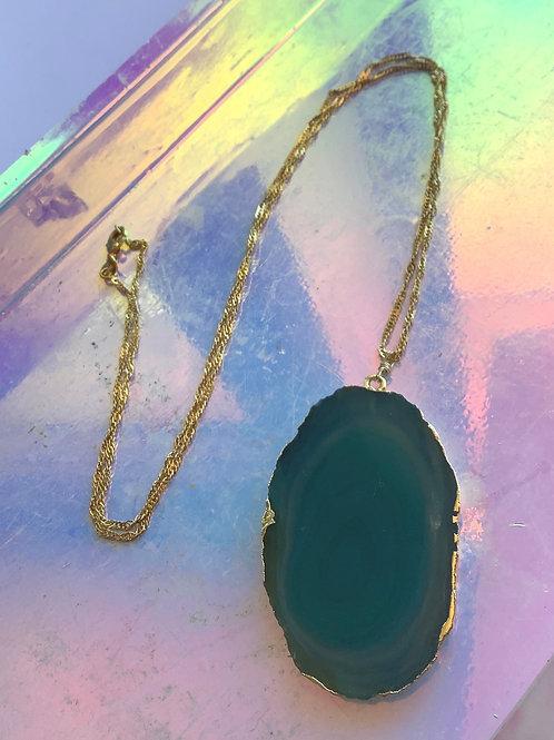 Blue Aventurine Stone Necklace