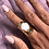 Thumbnail: White Flower Agate Ring