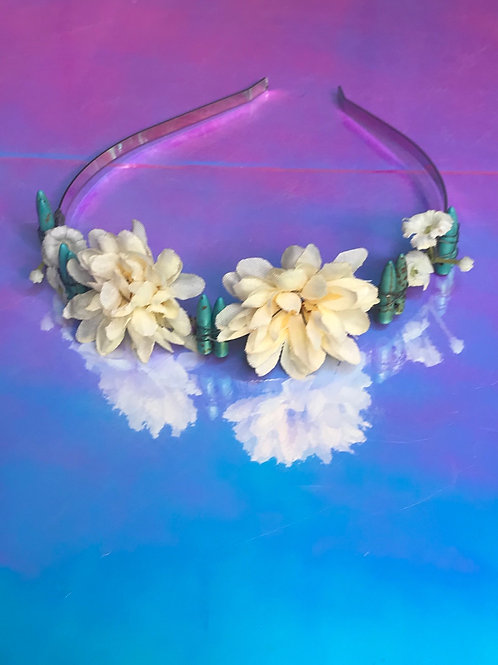 Turquoise Flower Crown