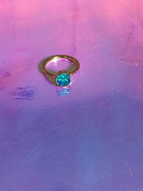 Sky Blue Opal Ring