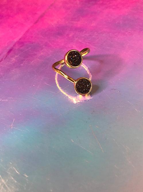 Created Rainbow Aura Quartz Ring