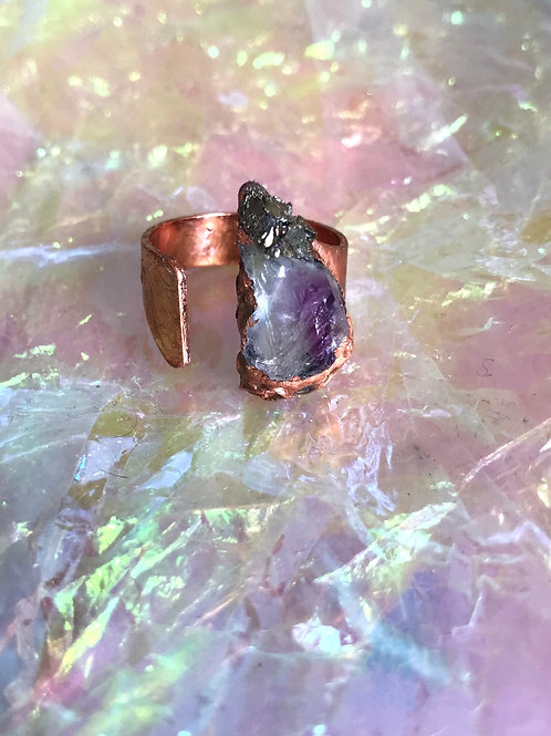 Peace Amethyst Ring