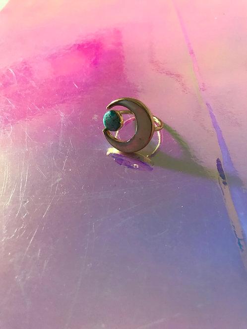 Third eye Turquoise Ring