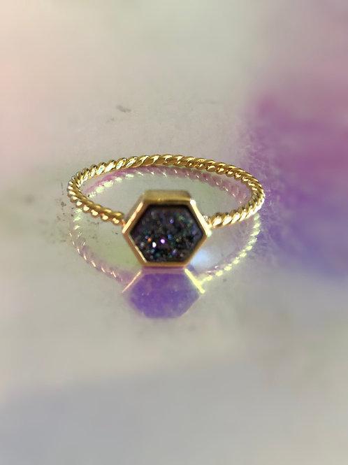 Hexagon Rainbow Ring