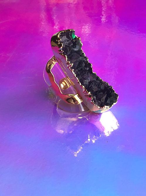 Dark Purple Amethyst Ring