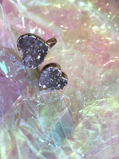 Big Hart Amethyst Ring