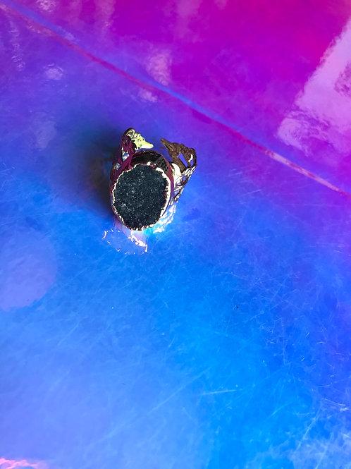 Drusy Love Chrysocolla Ring