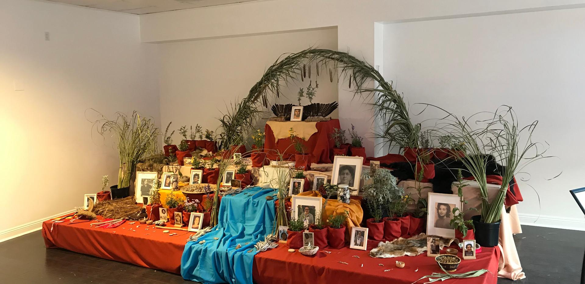 Yaanga Vive! Altar at Dia de los Muertos Celebration