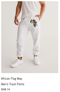 African Flag Map Men's Track Pants.png