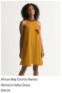 African Names Halter Dress