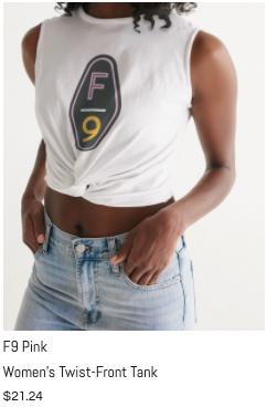 F9 Pink Women's Twist-Front Tank