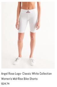 Angel Rose Mid-Rise Bike Shorts White.pn
