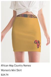 African Names Mini Skirt