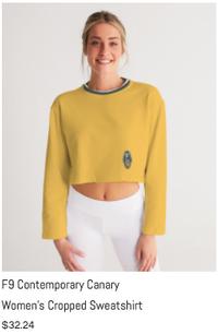 F9 Canary Women's Cropped Sweatshirt.png